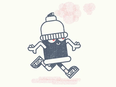 Dan da spraycan kids character design illustration spraycan
