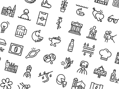 Icon Set Thalys train(+180 icons) trains building heart character beer mark illustraion iconography branding logo pictogram set pictograms pictogram europa train icon iconset icons