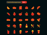 [ $1 ] DuoTone Icon - Food and Beverage Iconset - REDS vegetables icons pizza icon orange icon nachos icon milk icons iconset ice cream icon healthy food food menu icon food icon flat icon duo tone duotone donut icon cream roll icon coffee burger icons beverage icons beverage banana icon