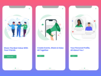 mobile app onboarding ui ios android travel sharing app illustration app illustration onboarding illustration walkthrough onboarding ui flat design