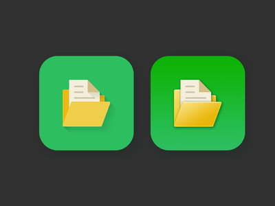 File manager icon long shadow & big sur style 3d macos style icon 3d macos style icon big sur style experimental long shadow flat app icon file manager