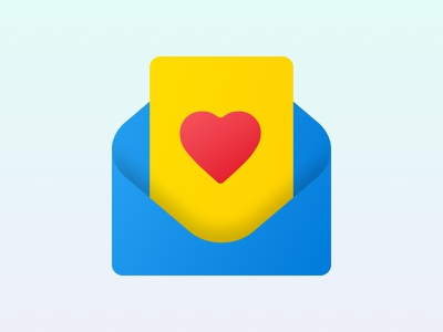 Love Letter - Based on Fluent Style from Microsoft fabric design fluent design fluent design system fluent microsoft sweetheart sweetie lovely favorite email favorite letter love from thanks giving valentines day valentine love letter love