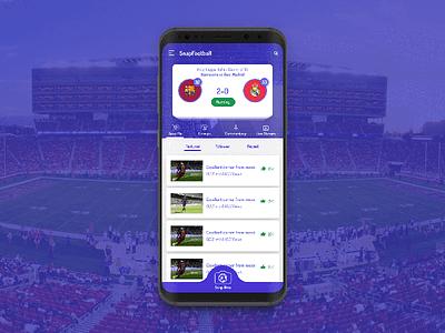 SnapFootball Concept UI Design snap ui snapchat ui
