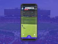 SnapFootball Concept UI Design