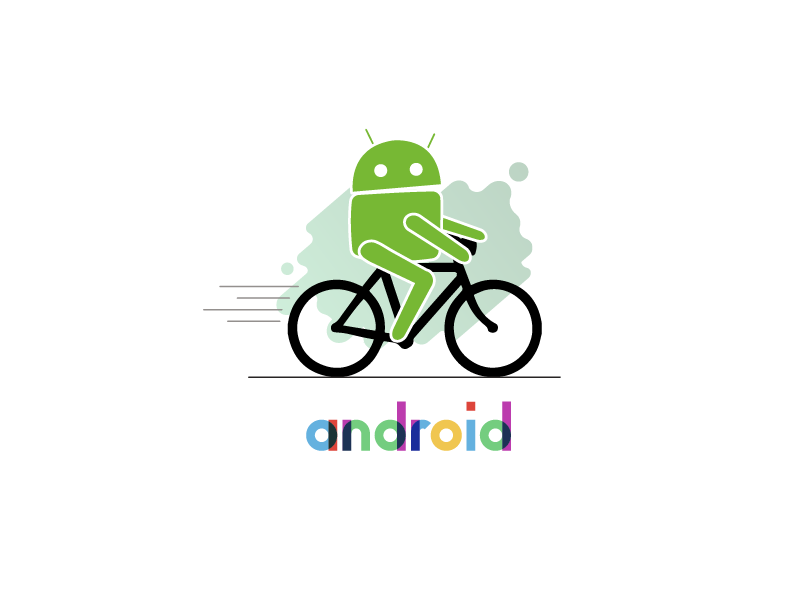 Android On Bike android app icon android icon android mascot android funny bike android
