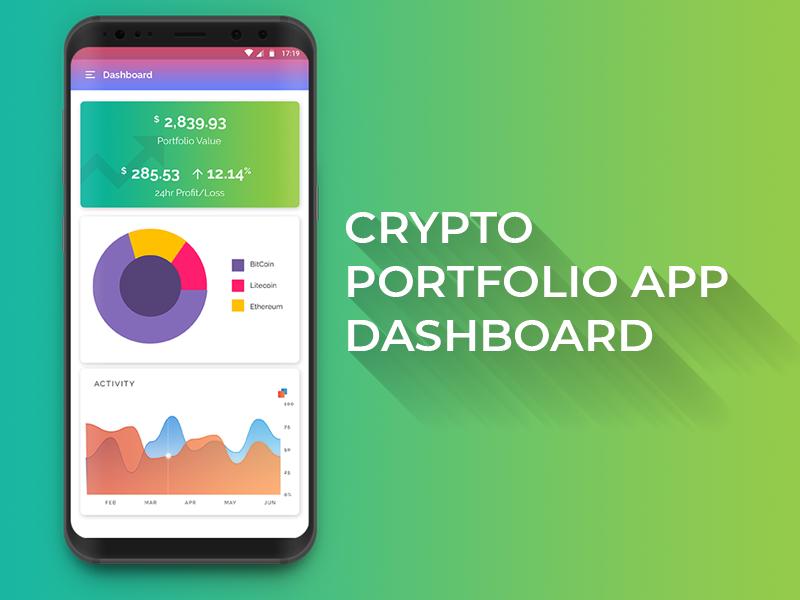 Crypto App Dashboard | Adobe XD crypto portfolio app portfolio crypto currency ui