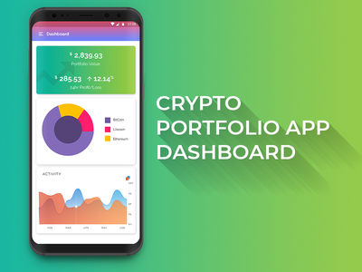 Crypto App Dashboard   Adobe XD crypto portfolio app portfolio crypto currency ui