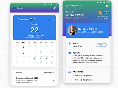Meeting Minutes App   #MadeWithFigma management app minutes app meeting flat design ui