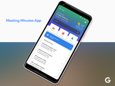 Meeting Minutes App android flat design ui