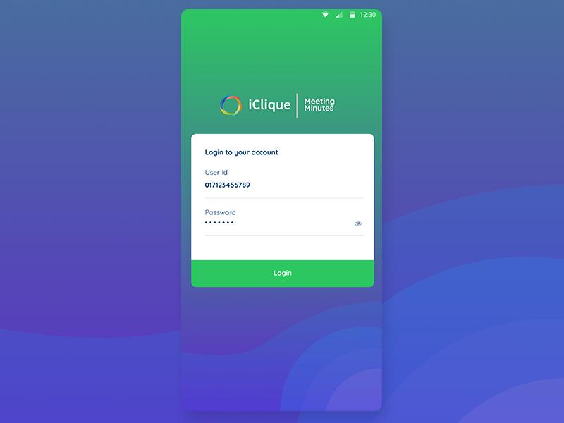 Cool Login Design App UI UX login screen otp page login page flat design ui