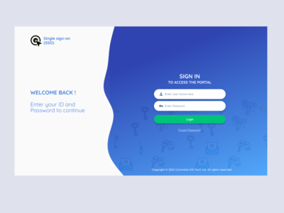 Modern login screen 1