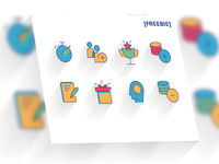colorful free icons set