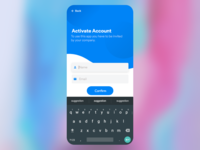 [Free Downlaod][Adobe XD] - Account Activation - Mobile App UI