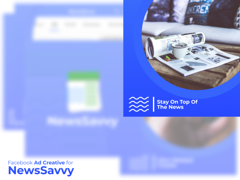 Facebook Ad Creative for NewsSavvy social ads facebook banner facebook ads facebook digital marketing ads design ad creative