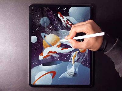 Koi Galaxy illustration