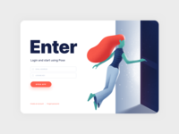 Pose - Login Screen illustraion product design web design