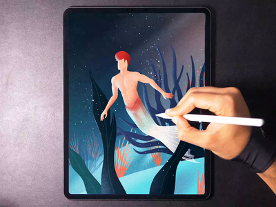 Merman illustration