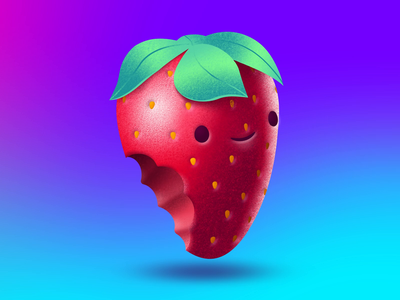 Strawberry illustration animation
