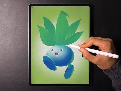 Oddish pokemon illustration