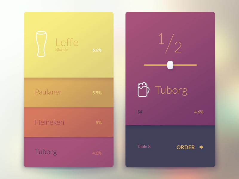Interactive Bar App israel tel aviv ui ux beer bar menu app mobile alcohol order