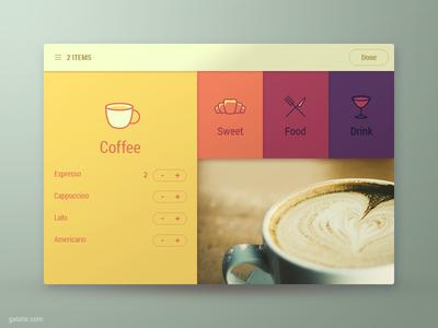 Menu App Interface ux ui ipad interface app
