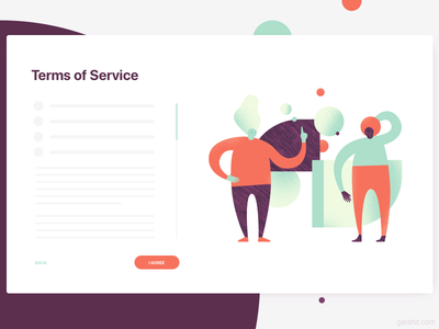 Terms Of Service Illustration ux illustration privacy policy terms terms of use tos terms of service