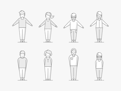 Character Guidance illustration set icons icon characters character