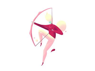 Archer illustration character arrow bow archer