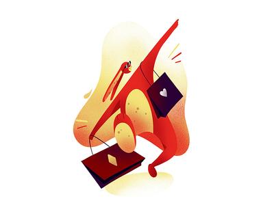 Shopaholic Bunny shopping bunny character illustration