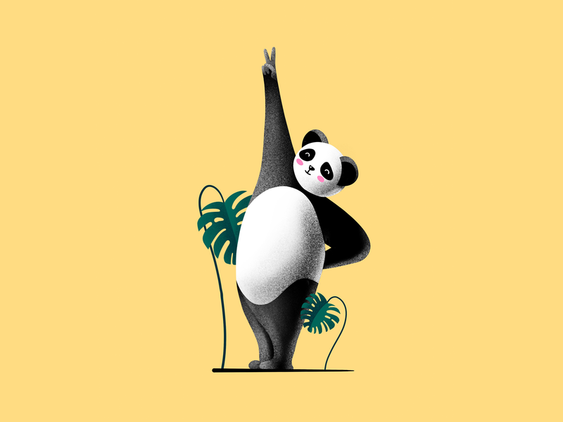 Panda 🐼 panda character illustration