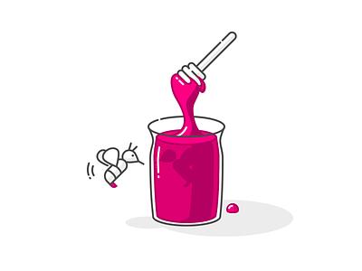 Honey 🍯 illustration icon bee honey