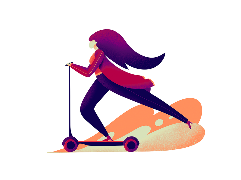 Scooter character illustration