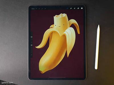 Banana character illustration