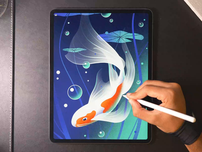 Koi Wallpaper drawing illustration