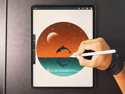 Dolphin 🌙 illustration