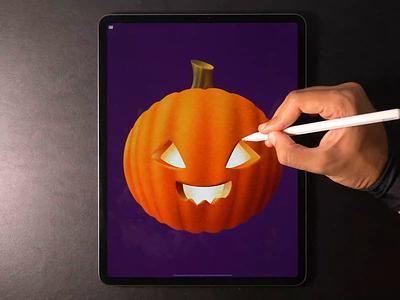 Pumpkin halloween pumpkin illustration