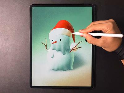 Snowman christmas snowman illustration