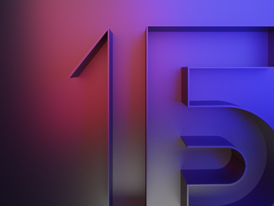 15px web typography branding logo applications app pixels 15 numbers illustration art concept website design ux ui typogaphy