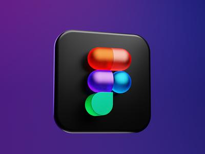 Figma Icon app icon blender 3d figma