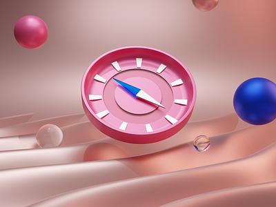 3D Compass icons blender vector illustration typogaphy design ux applications app ui graphic design branding logo motion graphics animation 3d