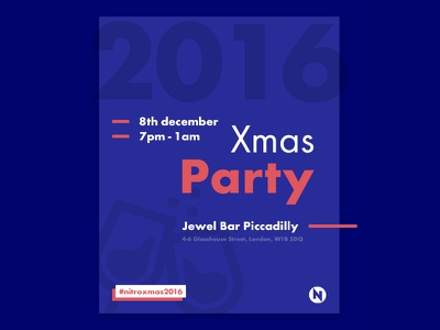 Xmas Party Invitation xmas typography poster invitation flyer email clean card