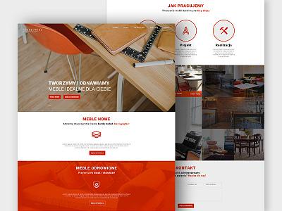 Sokolowkski Furniture Manufacture web typography ux ui interface webdesig