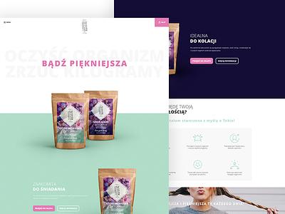 Love Detox Tea - Website web typography interface webdesign website ux ui