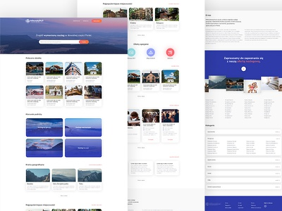 Infoturystyka.pl - Redesign - Home page colours gradients interface typography ui ux web webdesign website shadows
