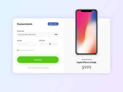Credit Card Checkout - Daily UI #002 daily dailyui ecommerce interface shop ui ux iphone x gradients credit card paymentent