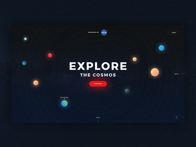 Landing Page - Daily UI #003 website nasa galaxy cosmos space landing page gradients dailyui daily