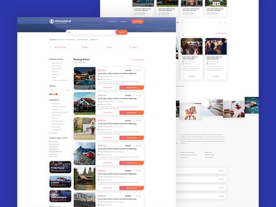 Infoturystyka.pl - Redesign - Accommodation list website webdesign web ux ui typography shadows interface gradients colours