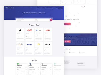 Infoswietokrzyskie - Commercial directory landing page page landing shadows website webdesign web ux ui typography interface gradients colours