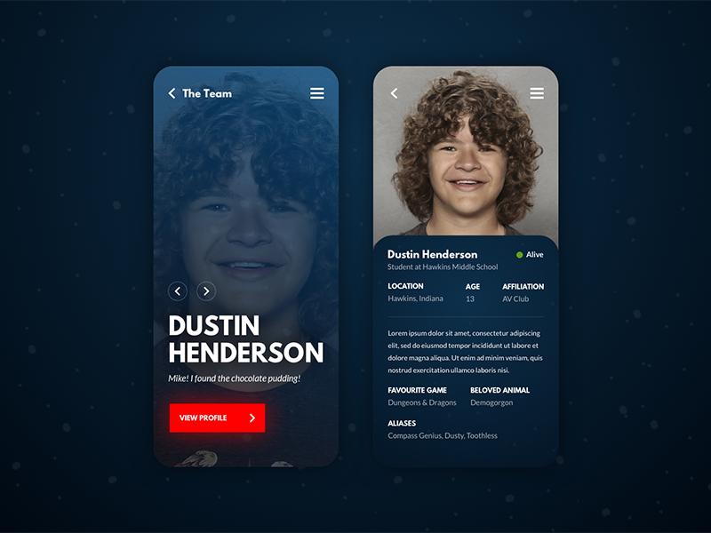Stranger User Profile - Daily UI #006