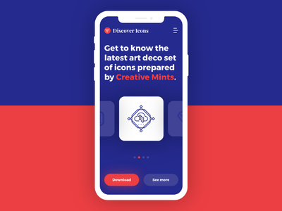Discover Icons App colours contest adobe xd icons app mobile